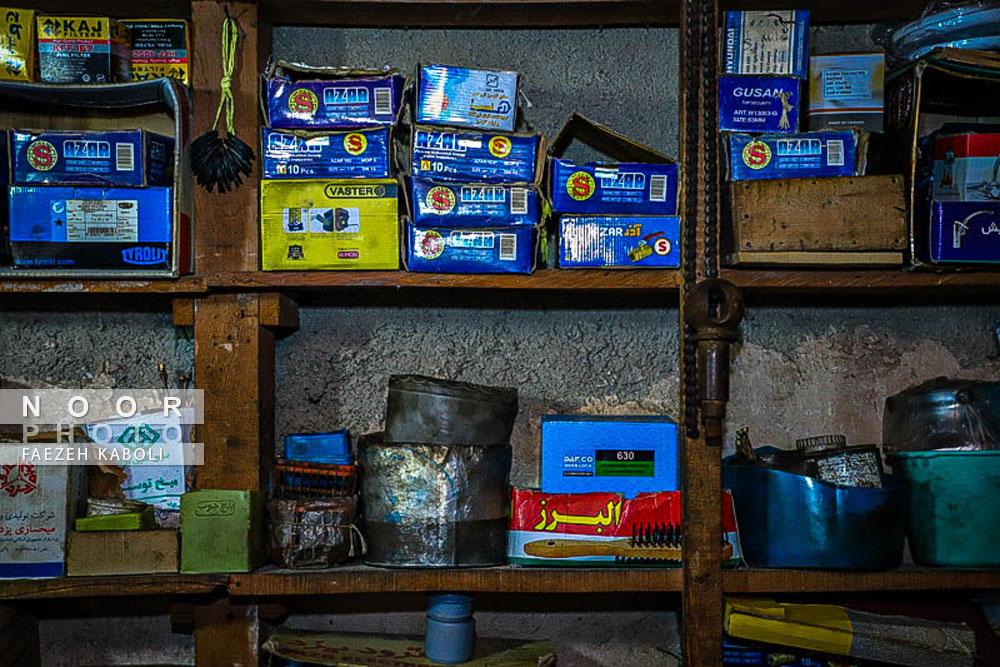 اجناس و وسائل قابل فروش در فروشگاه حاج آقا دایی روشندل
